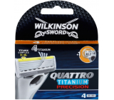 Wilkinson Sword Quattro Titanium Precision Replacement Heads 4pcs