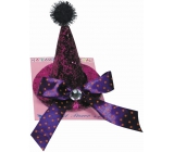 Hat on a pink purple tip clip