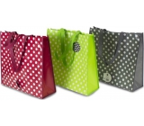 RSW Shopping bag with polka dot print burgundy 43 x 40 x 13 cm