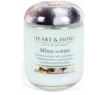 Heart & Home Mlžné svítání Sojová vonná svíčka střední hoří až 30 hodin 110 g