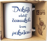 Bohemia Gifts Ceramic mug with print I can withstand anything except temptation 350 ml