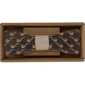 Bohemia Gifts & Cosmetics Wooden bow tie Sailor 12.5 cm