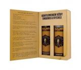 Bohemia Gifts Gentleman Olive oil shower gel 200 ml + hair shampoo 200 ml, book cosmetic set