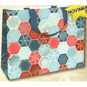 Nekupto Gift paper bag with embossing 30 x 23 x 12 cm Christmas 1739 WLFL