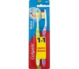 Colgate Extra Clean Medium střední zubní kartáček 1 + 1 kus