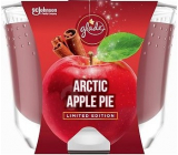 Glade Maxi Arctic Apple Pie with the scent of apple, cinnamon and nutmeg scented candle in a glass, burning time up to 52 hours 224 g