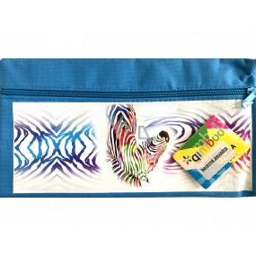 Donau Gimboo School case with zipper blue zebra 22 x 12 cm