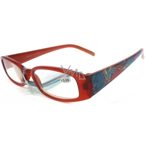 Berkeley Reading glasses +3.5 brown with flowers CB02 1 piece ER4130