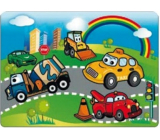 Water painting with a brush Toy cars 20 x 15 cm