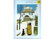 Albi Envelope Playing Card Josef Lada For Christmas Silent Night Karel Gott 14,8 x 21 cm