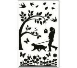 Room Decor Stickers for light switch silhouettes in the park No.2 24 x 15 cm