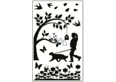 Room Decor Stickers to switch silhouettes in the park No.2 24 x 15 cm