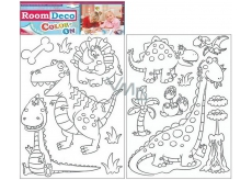 Room Decor Wall Stickers dinosaurs to paint 2 sheets 35 x 25,5 cm