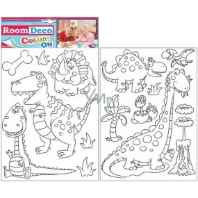 Wall Stickers Dinosaurs to paint 2 sheets, 35x25,5cm 1093 2440