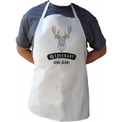 Bohemia Gifts & Cosmetics Kitchen apron with print for hunters Well hunting, length 75 cm