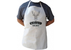 Bohemia Gifts & Cosmetics Kitchen apron with print for hunter Hunting Good, Length 75 cm