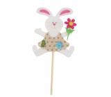 Bunny made of felt recess 8 cm + skewers beige