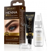 Revers Bio Henna with Argan and Ricinový olea color for eyelashes and eyebrows dyes, thickens and improves eyebrow growth Brown 15 ml + 15 ml