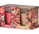 Emocio Wild Cranberry & Cinnamon Stick - Wild Cranberry and Cinnamon Scented Candle Glass 52 x 65 mm 2 pieces in a box