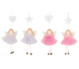 Angel with a bell in a tulle skirt 25 cm for hanging 1 piece