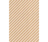 Ditipo Gift wrapping paper 70 x 200 cm KRAFT white stripes