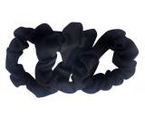 Hair bands textile black 7 cm 3 pieces