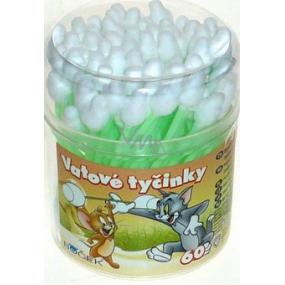 Boček Tom and Jerry safe cotton sticks for infants 60 pieces