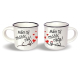 Nekupto Pair of mini cups I love you very much x I love you height 5.5 cm, diameter 6.5 cm