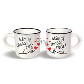 Nekupto Paired mini mugs I love you very much x I love you very much height 5.5 cm, diameter 6.5 cm