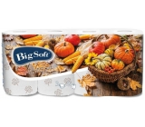Big Soft Fall Toilet Paper with 3 Layers 160 Scraps of 8 Pieces