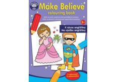 Coloring Book with Stickers - Fairy - tale characters English 5377001