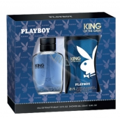 Playboy King of the Game eau de toilette for men 60 ml + shower gel 250 ml, gift set