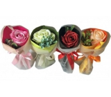 NeoCos Soap rose bouquet in pink paper 1 piece