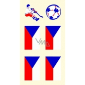 Arch Tattoo Decals for Face and Body Czech Flag 1 motif