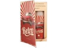 Bohemia Gifts & Cosmetics Book Retro Škoda shower gel 250 ml + oil bath 200 ml (with pleasant men's fragrance), cosmetic set
