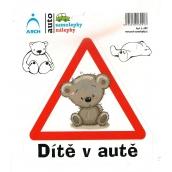 Arch Car sticker Child in car teddy bear 15 x 17 cm