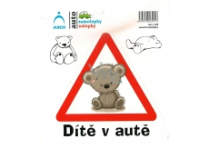Arch Car sticker Child in car teddy bear 15 x 17 cm