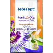 Tetesept Herbs & Oil Passion Fruit + Orange bath salt with caring oils 60 g + 15 ml