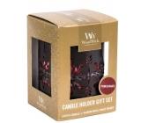 WoodWick Gift set 3pcs petite + candlestick Bronze Snowfl. 9457