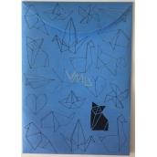 Albi Document case blue Origami A6 - 105 x 148 mm