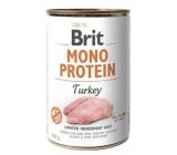 Brit Mono Protein Turkey 100% pure turkey protein complete dog food 400 g