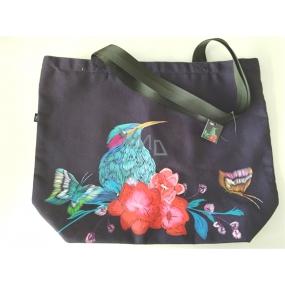 Albi Original Canvas bag large Kingfisher 40 cm x 38 cm, handle length 25 cm