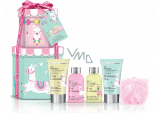 Baylis & Harding Lama cleansing gel 100 ml + shower cream 100 ml + body lotion 50 ml + hand cream 50 ml + bath crystals 25 g + washcloth, cosmetic set