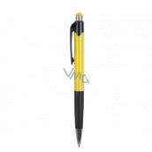 Spoko Ballpoint pen, blue refill, yellow 0.5 mm