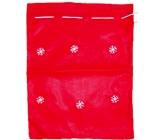 Nicholas bag with red flakes 40 x 32 cm
