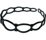 Čelenka děrovaná černá lesklá 2,5 cm