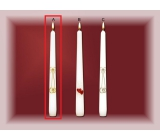 Lima Wedding Candle Gold Rings Candle White Cone 22 x 250 mm
