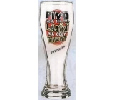 Nekupto Gifts with humor Humorous beer glasses Beer is not just a drink, it is love for life 0.6 liters