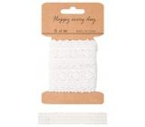 White decorative lace 1 m