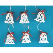 Crocheted set of bells with 5cm, 6pcs